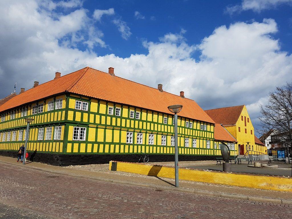 Vakwerkhuis in Grenaa, Djursland, Denemarken