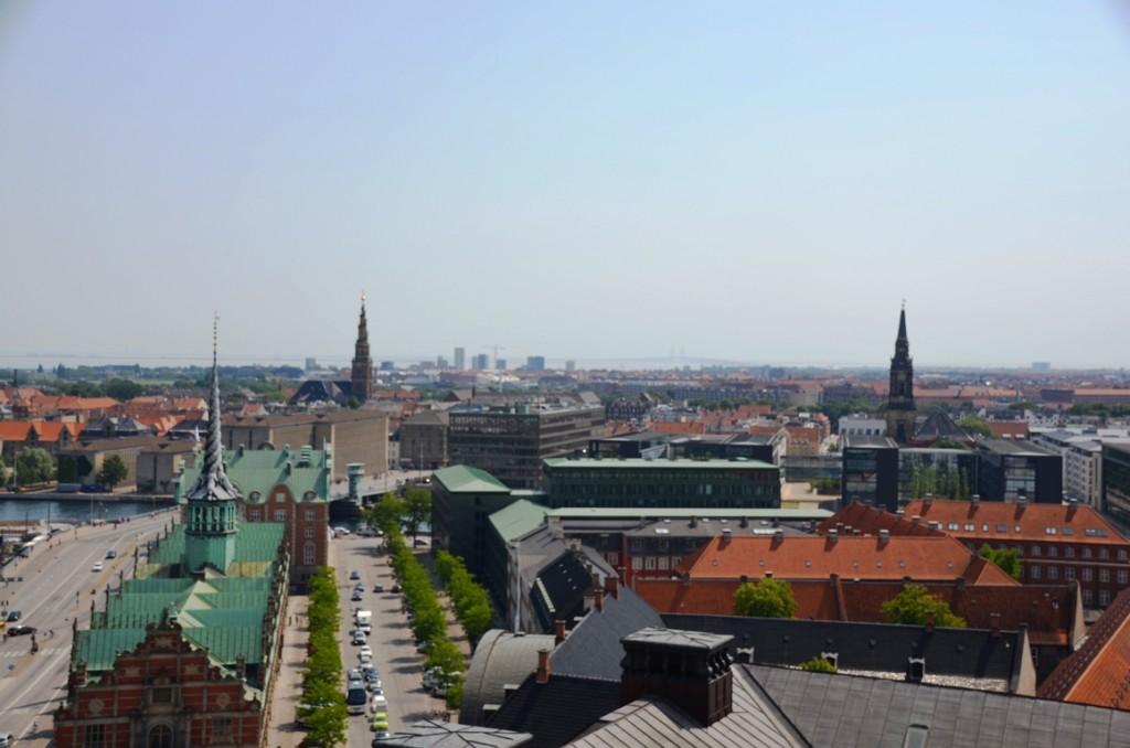 Uitzicht vanuit Christiansborg in Kopenhagen, Denemarken