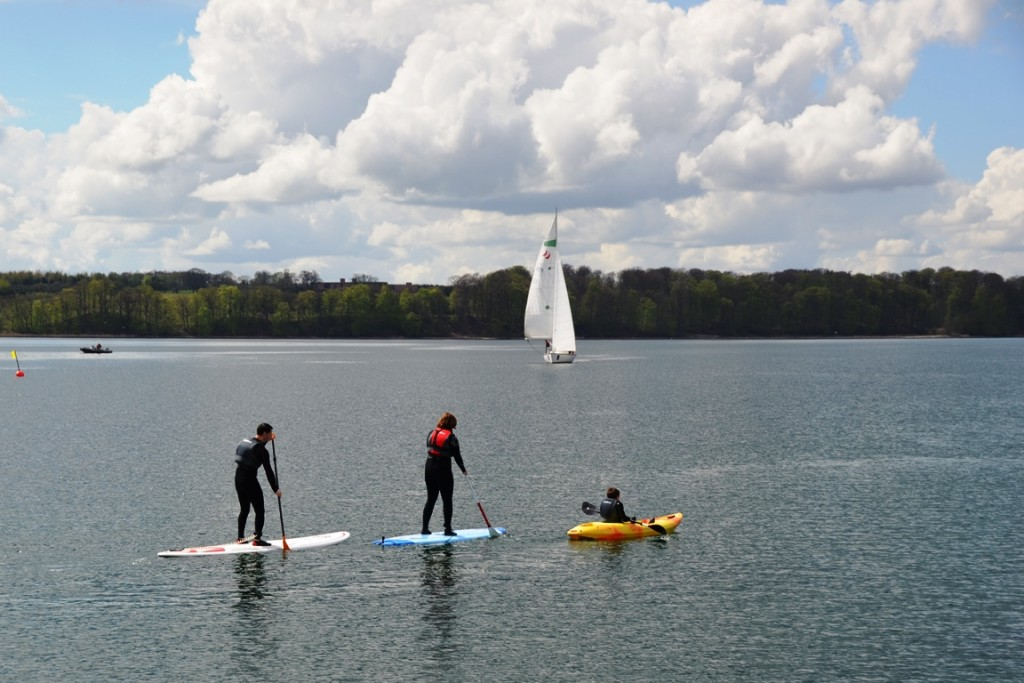SUP in Middelfart, Funen, Denemarken