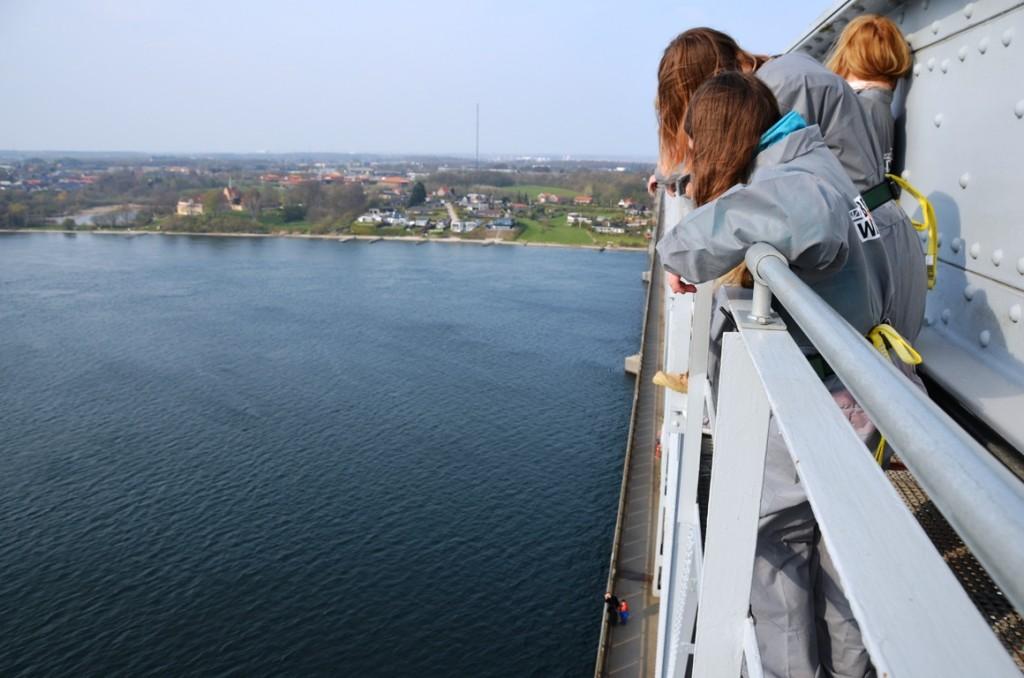 Bridgewalking Lillebaelt in Middelfart, Denemarken