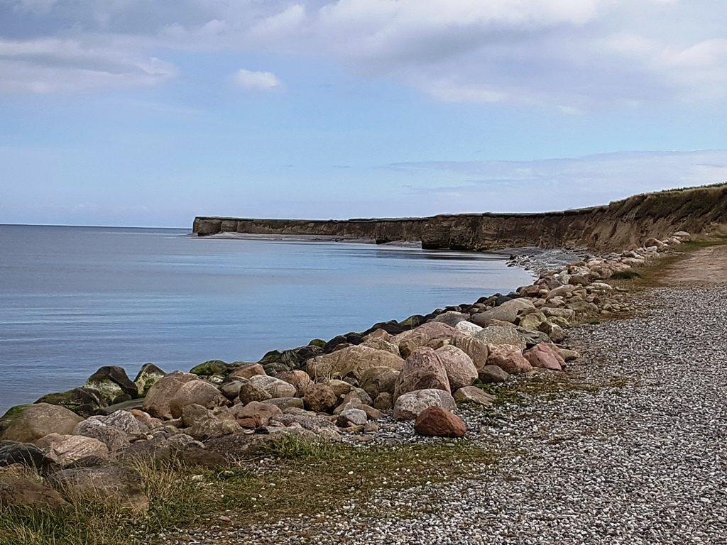 Kliffen aan de kust van Djursland, Denemarken